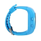 GPS Tracker Bracelet GSM Locator Watch Phone w/ Google Map SOS - Blue