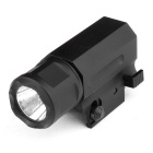1W 150lm White Tactical Flashlight w/ For 20mm Rail Gun - Black (1 x CR123A)