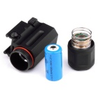 1W 150lm White Tactical Flashlight w/ For 20mm Rail Gun - Black
