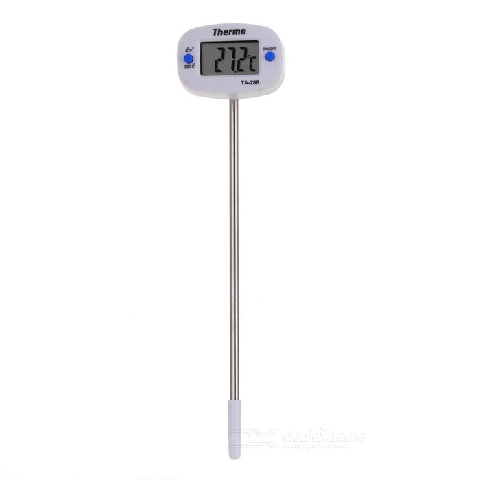 "1.0 ""Termômetro Digital LCD com Metal Probe (- 50 ~ 300"" C / F 1 * AG13)"