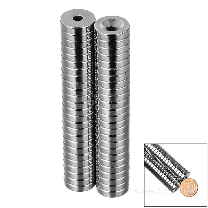 12*3-3mm Round NdFeB Neodymium Magnets Set - Silver (50PCS)Magnets Gadgets<br>Form ColorSilverMaterialNdFeBQuantity1 SetNumber50Suitable Age 5-7 Years,8-11 Years,12-15 Years,GrownupsOther FeaturesGreat for DIY projects, such as ammeter, instrument, electric motor, automatic control, microwave device, radar and medical equipment; Convenient to use.Packing List50 x Magnets<br>