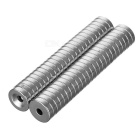 12*3-3mm Round NdFeB Neodymium Magnets Set - Silver (50PCS)