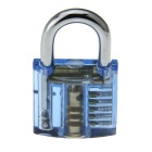 Transparent See-Through Practice Padlock + 5PCS Lock Picks Tools Set