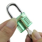 Transparent See-Through Practice Padlock + 9PCS Lock Picks Tools Set
