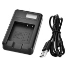 "Camera Battery Charger w/ 1"" Screen for Matsushita BCF10/BCF10E -Black"