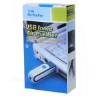USB Powered Air Care Air Ionizer and Purifier - White + Black