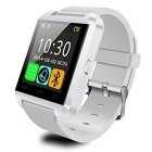 U8 Bluetooth Smart Wrist Watch w/ Camera Touch Screen for Android OS and IOS Smartphone - White
