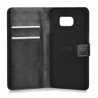 PU Wallet Case w/ Stand for Samsung Galaxy S6 Edge Plus - Black