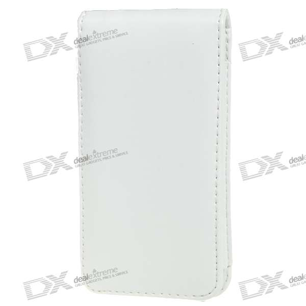 Protective PU Case with Strap for Iphone 4 - White