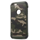 Protective PU + TPU Back Case Cover for IPHONE 6 Plus / 6S Plus - Camouflage Green