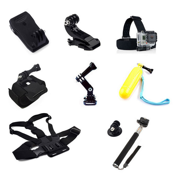 12-in-1 Accessories Kit for GoPro Hero 4 Session�� SJCam�� Xiaoyi