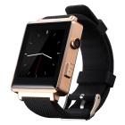 "CRERCO F5 1.54"" TFT LCD Smart Bluetooth Watch w/ SIM, TF Slot for IOS / Android Phones - Black+Gold"