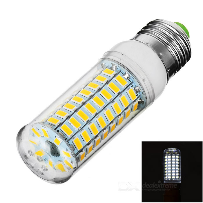 E27 5W LED Corn Bulb Lamp Cool White Light 89-SMD 5730 (AC 220~240V)E27<br>Form  ColorTransparent + White + Multi-ColoredColor BINCold WhiteMaterialAluminum + plasticQuantity1 DX.PCM.Model.AttributeModel.UnitPower5WRated VoltageAC 220-240 DX.PCM.Model.AttributeModel.UnitConnector TypeE27Emitter TypeOthers,5730 SMD LEDTotal Emitters89Theoretical Lumens800 DX.PCM.Model.AttributeModel.UnitActual Lumens550~700 DX.PCM.Model.AttributeModel.UnitColor Temperature6000KDimmableNoBeam Angle360 DX.PCM.Model.AttributeModel.UnitPacking List1 x Bulb<br>