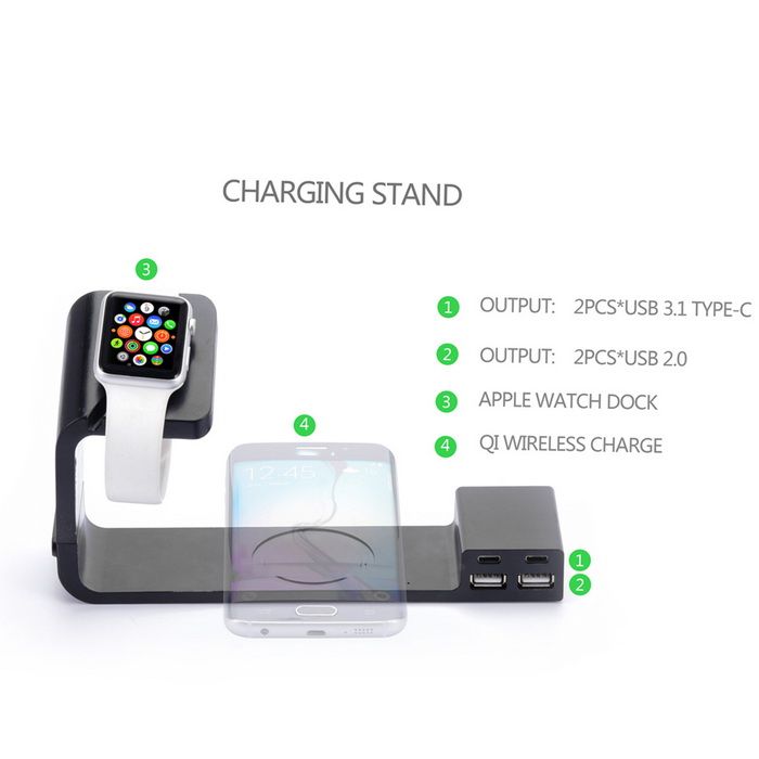 Itian A12 Qi Wireless Charger for APPLE WATCH / IPHONE ...