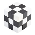 Irregularly Shaped 3D IQ Cube - White + Black