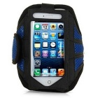 Mesh Cloth Sports Armband Case / Arm Bag for IPHONE 6 / 6S / 6 PLUS / 6S PLUS - Black + Blue