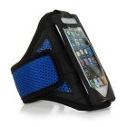 Cloth Sports Armband Case / Arm Bag for IPHONE 6 PLUS - Black + Blue