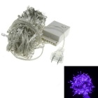 9.5m 6W US Plug 100-LED 80lm Christmas Decorated Purple Light String - White