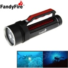 FandyFire 4-T6 XM-L 4000lm Cool White LED Water / Land Applicable Diving Flashlight (2 x 26650)