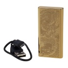 Fashion Ultra Thin Windproof Electronic Cigarette Lighter - Gold