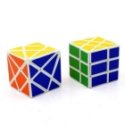Shift Edge Transformers Rubik's Cube Magic IQ Cube Toy Set - White + Multi-Color