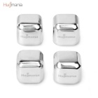 Hugmania- Square Shaped Reusable Stainless Steel Stones Ice Cube Set for Wine/Juice/Coffee (4PCS)