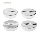 Hugmania-Coffee Bean Shaped Reusable Stainless Steel Stones Ice Cube Set for Wine/Juice/Soda (4PCS)
