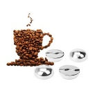Hugmania Coffee Bean Stones Ice Cube for Wine/Juice - Silver (4PCS)