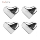 Hugmania- Heart Shaped Reusable Stainless Steel Stones Ice Cube Set for Wine/Juice/Coffee (4PCS)