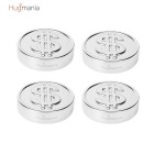 Hugmania- Money Coin Shaped Reusable Stainless Steel Stone Ice Cube Set for Wine/Juice (4PCS)