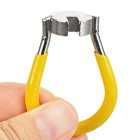 "360' Rotatable Bike Spoke Wrench for 0.136"" Nipple - Yellow + Silver"