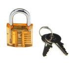 Mini Slotted Transparent Padlock + 9-Compact Key Tool