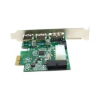CY U3-086 External USB 3.0 & Power Over Esata PCI Express Card - Green