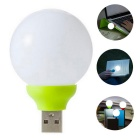 Mini Round LED USB Lamp Light Colorful Small Bright Lamp - Green