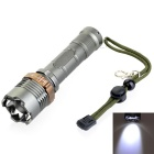 Outdoor Zoomable XML-T6 700lm Cool White 5-modes EDC Tactical LED Flashlight - Cyan (1 x 18650)