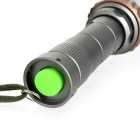 Outdoor Zoomable XML-T6 700lm Cold White 5-Mode LED Flashlight - Cyan