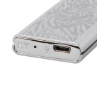 Fashion Tiger Pattern Rechargeable Electronic Lighter - Silver