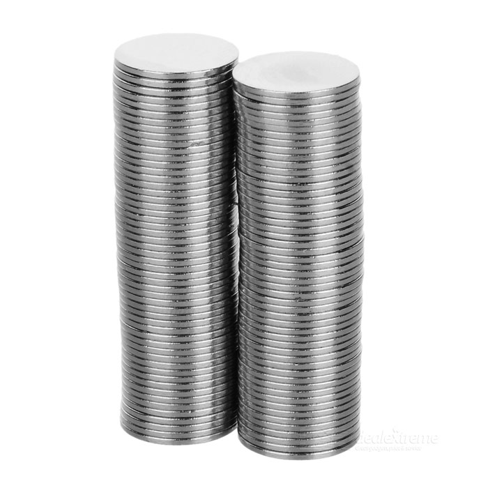 FandyFire 15mm*1mm Nickel Plated NdFeB Magnet - Silver (100PCS)
