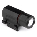 1W-CR2 150lm White Tactical Flashlight for 20mm Rail Gun - Black (1 x CR12)