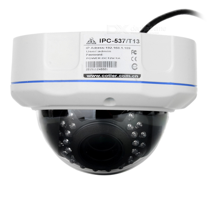 COTIER 960P plug and play impermeable cámara de visión nocturna HD IP - blanco