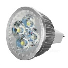 MR16 5.5W 4-LED Bulb Lamp Cool White Light 7650K 280lm - Silver + White