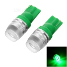 T10 0.4W Green COB LED Bulb License Plate / Clearance Light - Green
