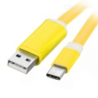 USB 3.1 Type C Data & Charging Cable w/ Orange LED - Yellow (1m)