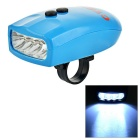 Outdoor Waterproof 3-Mode 4-LED White Light Bike Headlamp w/ Belt - Blue