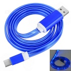 USB 3.1 Type C Data & Charging Cable w / Blue LED - Deep Blue (1 м)