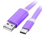 USB 3.1 Type C Data & Charging Cable w/ LED Light - Purple (1m)