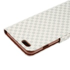 MO.MAT Gird Pattern PU Wallet Case for IPHONE 6S PLUS - Grey + White