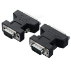 VGA Male to DVI 24+5Pin Female Video Adapter Connector - Black (2PCS)