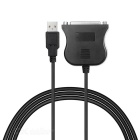 USB to DB Adapter Cable for Old Type Stylus Printer - Black (80cm)