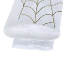 Spider Web Style Anti-Slip Elastic Arm Warmers - White + Gold (L)